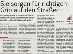 Firmen Portrait / Reportage der Kärntner Wirtschaft über Reifen Wadel